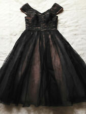 TED BAKER black pink fit&flare full skirt ballerina dress bridesmaid wedding 1 8