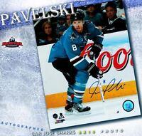 JOE PAVELSKI Signed San Jose Sharks 8 x 10 Photo - 70184
