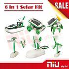 NEW 6 in 1 Solar DIY Educational Kit Toy Boat Fan Car Robot Windmill Puppy Plane