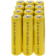 12x AA battery batteries Bulk Nickel Cadmium Rechargeable NI-Cd 2800mAh 1.2V Yel