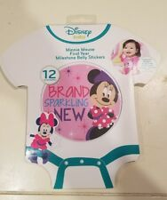 NIP DISNEY BABY Minnie Mouse 12 BELLY STICKERS MILESTONE STICKERS