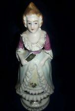 "Occupied Japan Vintage Porcelain China Colonial Woman Figurine - 6 1/2"""