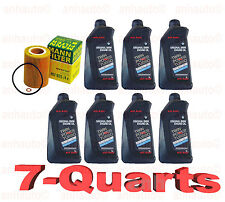 7-Quarts Genuine Synthetic Bmw 5w30 Motor Oil &1-oem MANN Oil Filter for BMW