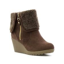 Lilley Womens Brown Wedge Ankle Boot - Sizes 3,4,5,6,7,8,9