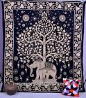 Indian Elephant Tapestry Tree of Life Wall Hanging Hippie Queen Bedspread Throw