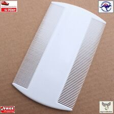 White Double Sided Nit Comb for Head Lice Flea Detection for Kids Pets [A5W~B43]