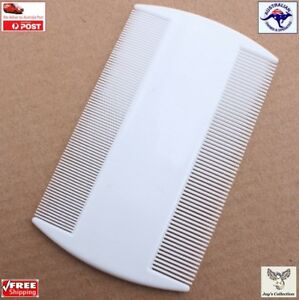 White Double Sided Nit Comb for Head Lice Flea Detection for Kids Pets [A5W~B1]