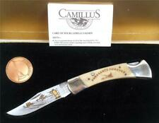 CAMILLUS PHEASANTS FOREVER HUNT SCENE FOLDING POCKET KNIFE IN CASE WITH COIN`