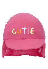 BNWT, Baby, Jersey Flap, Cap, 'Cutie' Logo, Pink, Size 00, 3-6 Months