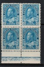 Canada #117ii Very Fine Mint With Type D Lathework Block
