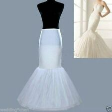 White Bridal Cocktail Wedding Gown 1Hoop Fishtail Mermaid Petticoat Underskirt