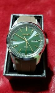 Dark Green Sunray Dial Solar Powered Men's Watch SNE529