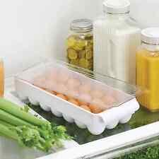 Egg Holder Refrigerator Storage Lid Fridge Organizer Bin Container Tray 21 Eggs