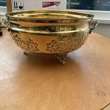"""More details for large solid brass bowl/planter 5"""" tall & 10"""" diameter"""