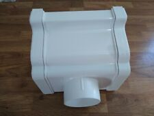 PVCu OGEE outlet guttering fitting WHITE UNIVERSAL CONSERVATORY building diy