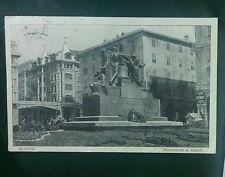 Cartolina d'epoca viaggiata Savona 1928 Monumento ai caduti