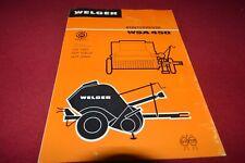 Welger WSA 450 Baler Dealers Brochure CDIL