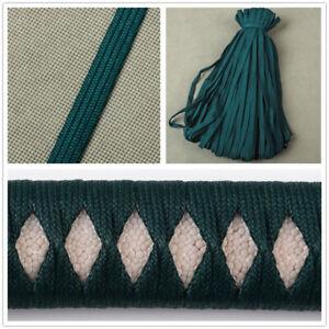 Dark Green Ito Sageo Cord Synthetical Silk Tsukamai For Japanese Katana Sword