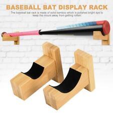 Baseball Bat Display Case Rack Wall Mount Horizontal Brackets Hanger Holder