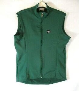 Pearl Izumi Cycling Vest Green Large Sleeveless Zip Front Womens CBO17