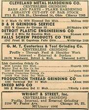1946 Wright & Street Grinding 5100 W Foster Ave Chicago Mulberry Ad