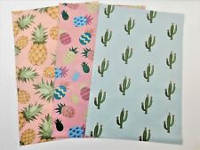 150 Set Designer 10x13 PINEAPPLE and CACTUS Mailers Poly Shipping Envelopes Bags