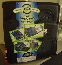 """NEW Case It Velcro Closure 2"""" 2 Inch Ring Binder Expandable Tab File Black S-816"""