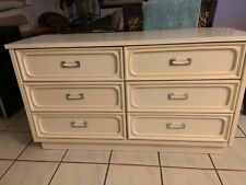 white gloss dresser 6 drawers mint condition