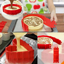 4Pcs/lot Square Heart Shape DIY Magic Flexible Baking Cake Mold Snake Silicone