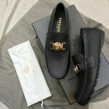 black versace loafers