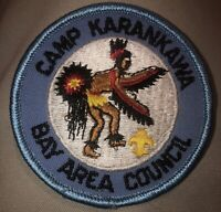 Vintage Boy Scouts BSA Camp Karankawa Bay Area Council Embroidered Patch