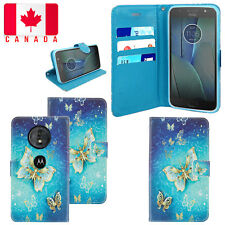 For Motorola Moto E5 /G6 Play E4 G7 G7 Power Play Leather Flip Stand Case Cover