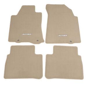 OEM 2013-2015 Nissan Altima Beige Carpeted Floor Mats 4-Pieces NEW 999E2-UZ101