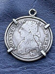 Trés jolie demi écu de 1792 A en argent non nettoyé A Identifier