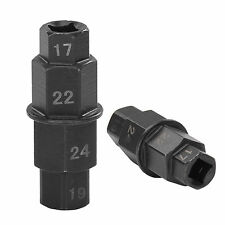Motorbike Motorcycle Front Wheel 4 in 1 Hex Removal Spindle Key 17/19/22/24mm