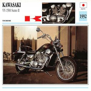 Fiche Photo Moto Japon Japan KAWASAKI VN 1500 Sumo II 1992 Edit Edito Service