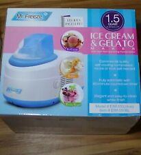 Mr. Freeze 1.5 Quart Compressor Ice Cream Maker NEW blue Automatic