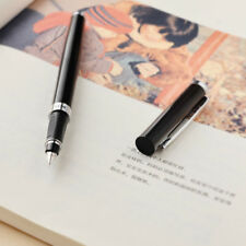Hero 9075 Black Metal China Push Fountain Pen Medium Fine Nib 0.5 mm Xmas Gifts
