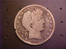 1895-O BARBER SILVER HALF DOLLAR  G/VG DETAILS - KEY DATE! - N74UHSC2