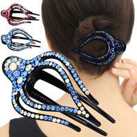 Womens Crystal Rhinestone Hair Clip Claw Bridal Wedding Hair Hairpin Accessories