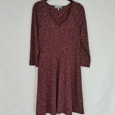 Almost Famous Womens Dress Red Crisscross V-neck Long Sleeve Swing Size Lg