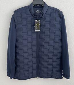 Nike Golf Aeroloft Repel Hyperadapt Jacket Size M Navy Blue CK5900-451 A2-30