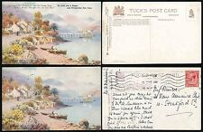 SCOTLAND TUCKS OILETTE 2 CARDS LOCH LONG 7540..WITH + WITHOUT GREETINGS NEW YEAR