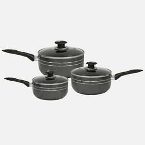 Non Stick Die Cast Sauce Pan Lid Black Suitable For Induction Hobs and Gas Hobs