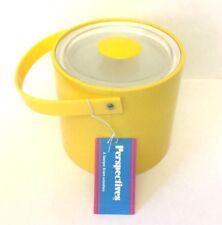Vintage George Briard Ice Bucket Perspectives Inc. Barware Yellow Plastic Unused