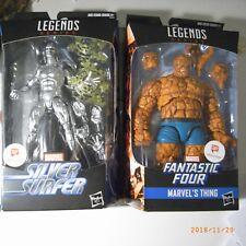 """6"""" Marvel Legends Thing Silver Surfer Walgreens Lot Fantastic Four 4 Ben Grimm"""