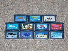 Lot of 11 Nintendo Game Boy Advance Kid's Games: Shrek Happy Feet Rugrats More