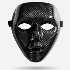 Masquerade Full Face Mask Party Dance Ball Phantom Carbon Fiber Airsoft Mask