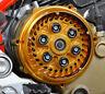 """Ducati Kupplungsdeckel Kupplung Deckel """"Pollux"""" gold NEU - clutch cover NEW"""