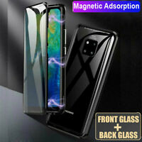 Huawei Mate 20 Pro Lite Double Side Glass Magnetic Adsorption Metal Case Cover